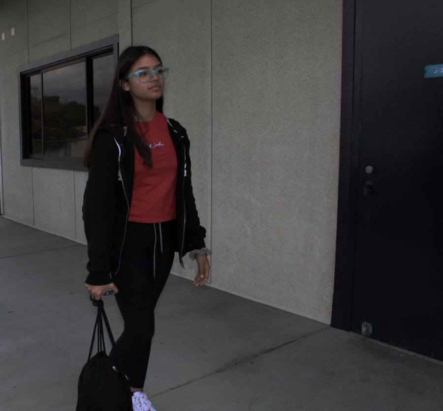 Jesenia Garcia enjoys getting to school early.