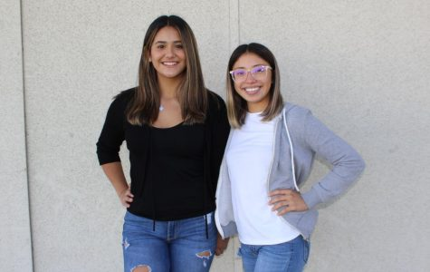 Liyah Rangel President of Corner Club left, and Nicole Lohman Vice President right