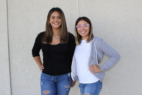Liyah Rangel President of Corner Club left, and Nicole Lohman Vice President right