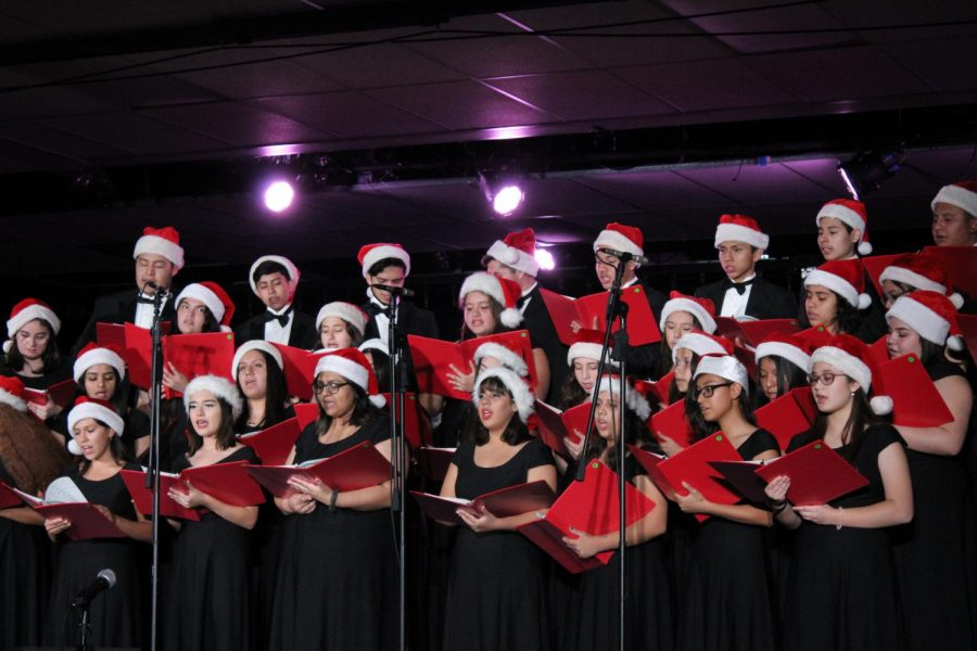 The South El Monte Choir performs one of the classics during the Winter Choir Concert.