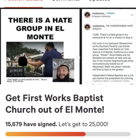 Petition made by El monte citizen for the removal of the Hate group.