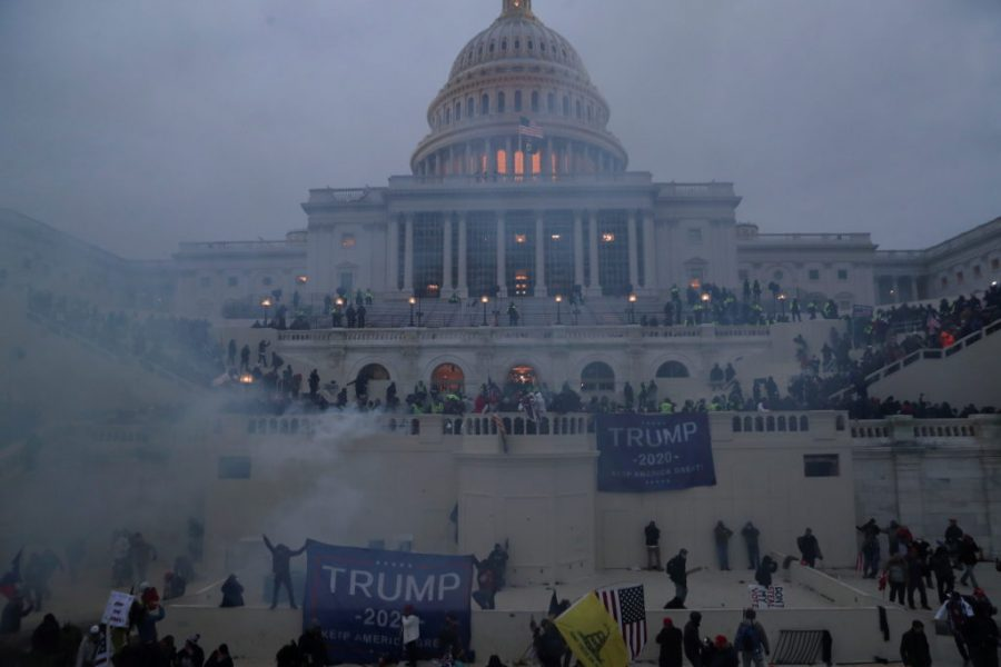 Trump supporters attack the Capitol on January 6, 2021