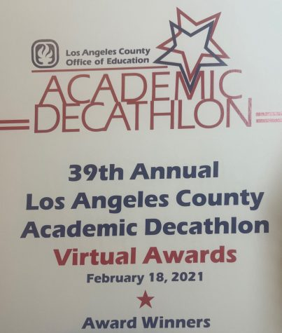 The South El Monte High School Academic Decathlon Team