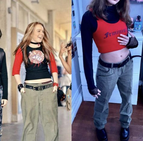 Celeste Bucio, recreating an outfit from Freaky Friday (2003).