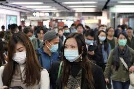 Residents of Hong Kong wearing masks