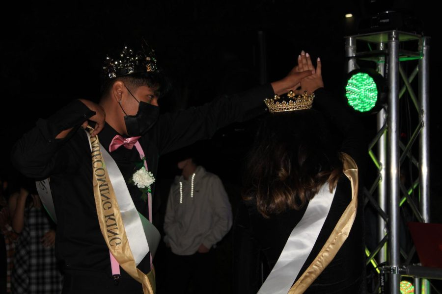 Homecoming King Eduardo Morales and Homecoming Queen Michelle Martinez